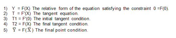 Boundary Conditions to Evaluate the Coefficients
