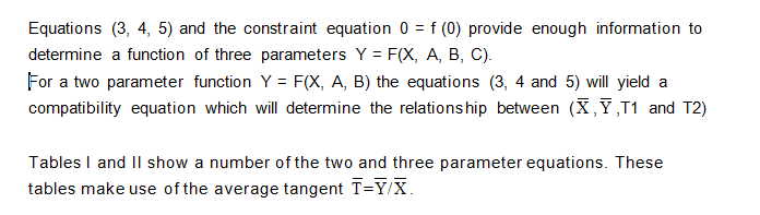 Details for Two and Three Parameters Curve Segments
