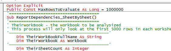 Suggestions for personalizing the Excel VBA Editor | alfred-excel